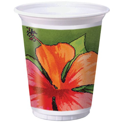Creative Converting 8 Count Plastic Cups, 16-Ounce, Bamboo Weave