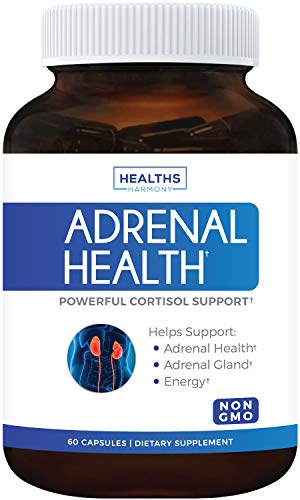 - Adrenal Support & Cortisol Manager (Non-GMO) Powerful Adrenal Health with L-Tyrosine & Ashwagandha - Maintain Balanced Cortisol Levels & Stress Relief - Fatigue Supplement - 60 Capsules