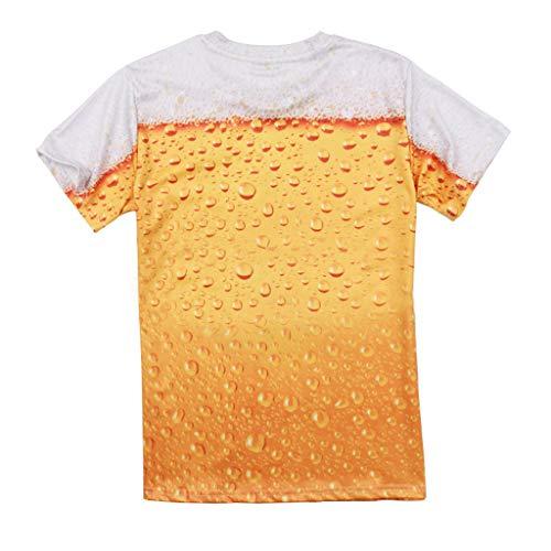 Camicetta Time Corte Manica Maniche maglietta moda Giallo Hi Top Stampato Corta Uomo Beer camicia 3d Zolimx it's A Uomo yellow Uomo T shirt qZRwtwO