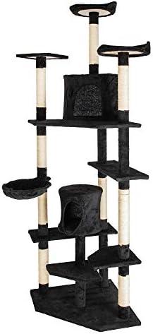 DotePet 80 Cat Climb Tree Tower Kitten Condo Scratching Post Black