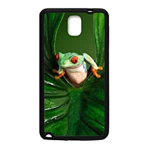 Happy Green leaves and unique frog Cell Phone Case for Samsung Galaxy Note3