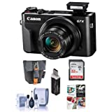 Canon PowerShot G7 X Mark II Digital Camera - 32mm SDHC Card, Camera Case, Cleaning Kit, Card Reader, Software Package