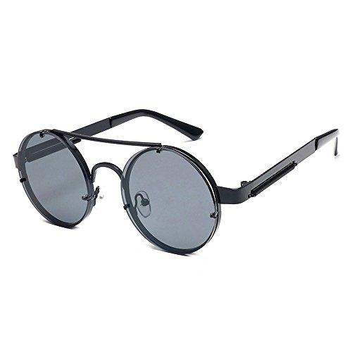 Anteojos Circular Sol De Sol Retro Colorido Gafas Retro JUNHONGZHANG Un Muelle General Espejo Gafas Príncipes Un De Gafas qzFn1B