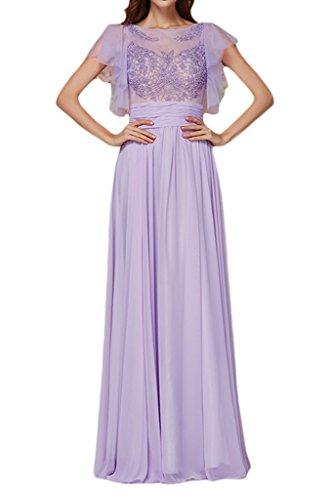 sunvary elegante gasa manga corta fiesta vestidos dama para 2016Mujeres lila