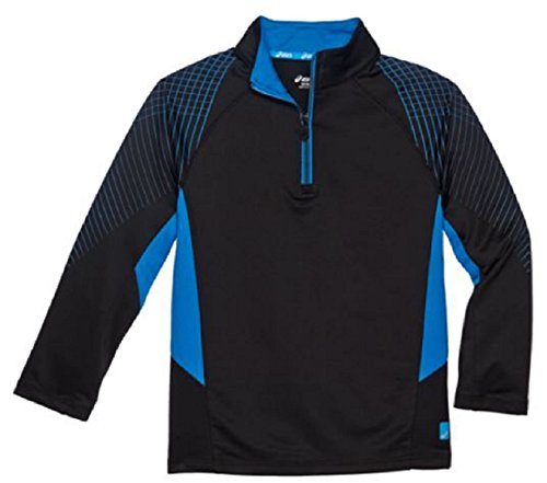 ASICS Boys Youth 1/4 Zip Top, Pullover Shirt Jacket (M (10/12), (Youth Quarter Zip Pullover)