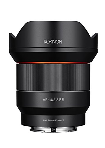 Rokinon 14mm F2.8 Full Frame Auto Focus Lens for Sony E-Mount, Black (IO14AF-E)