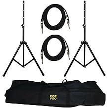 Pyle Pro PMDK102 Speaker Stand Heavy-Duty Pro Audio & .25 Cable Kit Consumer Electronics