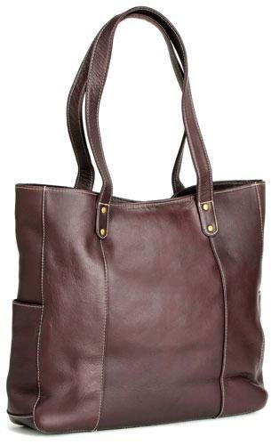 le-donne-leather-double-strap-rivet-tote-cafe