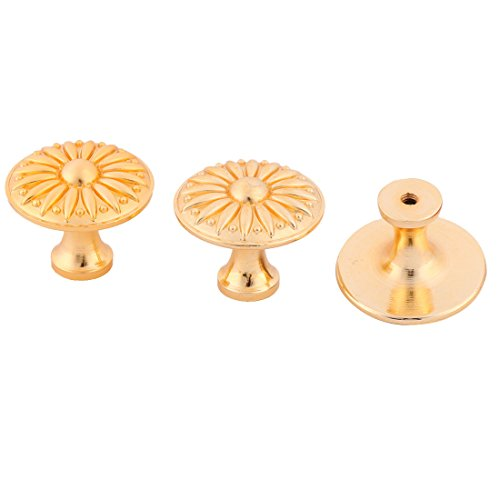 uxcell Metal Household Door Window Cabinet Cupboard Hardware Pull Knob 3pcs Gold Tone by uxcell