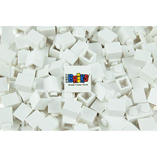 Strictly Briks Classic Briks Building Starter Kit - 100% Compatible with All Major Brick Brands - 1x1, White, 288 Pieces