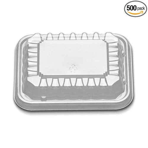Oblong Pack - D and W Fine Pack Clear 8 and 12 Ounce Oblong Dome Lid Only - 250 per case.