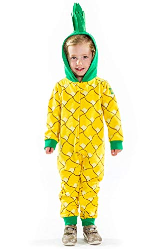 Tipsy Elves Children's Fruit Pineapple Halloween Costume - Infant Kids Baby Pineapple Costume Jumpsuit: 6-12M Yellow