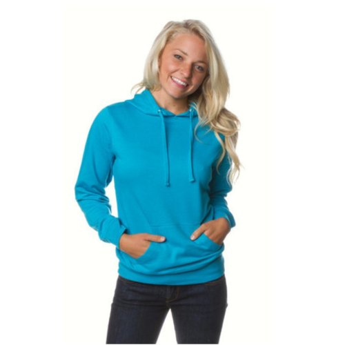 - ITC Juniors' Hooded Sweatshirt SS650 - Large-Aquamarine