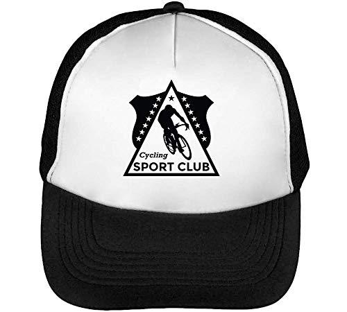 Sport Beisbol Cycling Negro Club Hombre Blanco Gorras Badge Sport Snapback U1Eq0wByA
