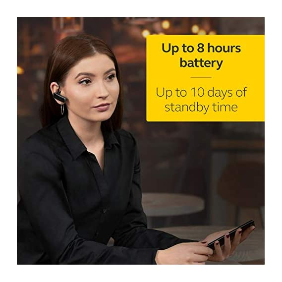 Jabra Talk 25 Bluetooth Headset for High Definition Hands-Free Calls with Clear Conversations and Streaming Multimedia (Black)