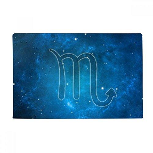 Starry Night Scorpio Zodiac Constellation Anti-slip Floor Mat Carpet Bathroom Living Room Kitchen Door 16''x30''Gift by DIYthinker