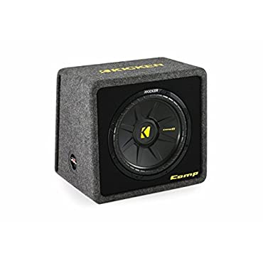 Kicker VCompS122 (40CWS 122)12 compS Series Angled Vented Loaded SubWoofer Enclosure