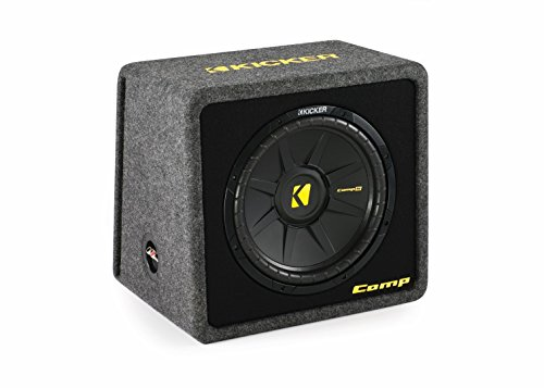 Kicker VCompS122(40CWS 122)12 inch compS Series Angled Vented Loaded SubWoofer Enclosure
