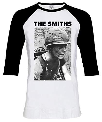 The Smiths Meat is Murder 3/4 Sleeve Baseball Tee T-Shirt Size M (Is Smiths T Meat The Shirt Murder)