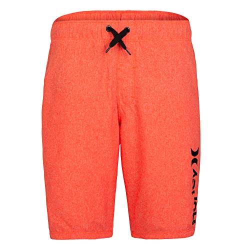 Hurley Boys' Little Pull On Board Shorts, Bright Crimson Heather, - Heather Crimson