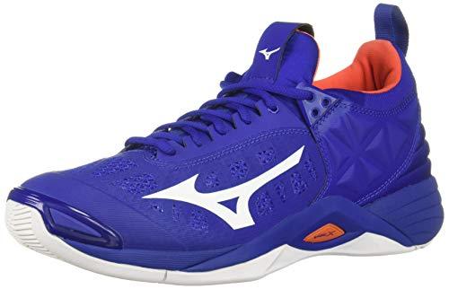 Mizuno Men's Wave Momentum Volleyball Shoe, royal-orange, 14 D -