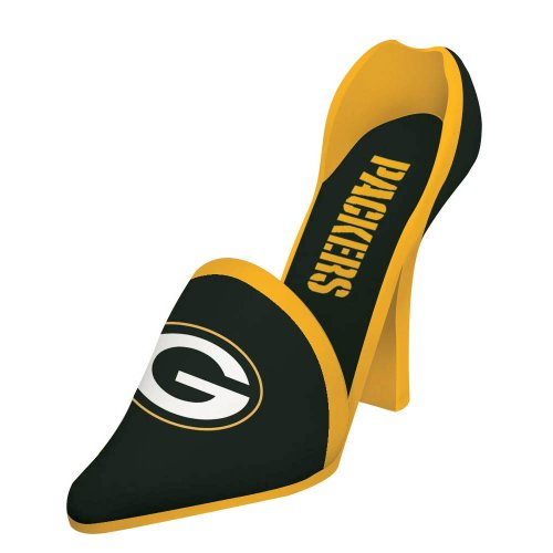 NFL Green Bay Packers Decorative Shoe Wine Bottle Holder, Small, Multicolored (Stopper Wine Green Bay Packers)