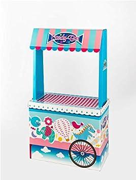 Caramelos La Asturiana Carrito Candybar Original y Vistoso Carrito para chuches, alegres Colores, fácil