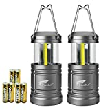 LED Camping Lantern - 2 Pack Camping Lantern with 6 AA Batteries - Magnetic Base -Hausbell Portable Collapsible LED Camping Lantern Flashlights -Survival Kit for Emergency,Collapsible, Waterproof, Shockproof LED Lantern