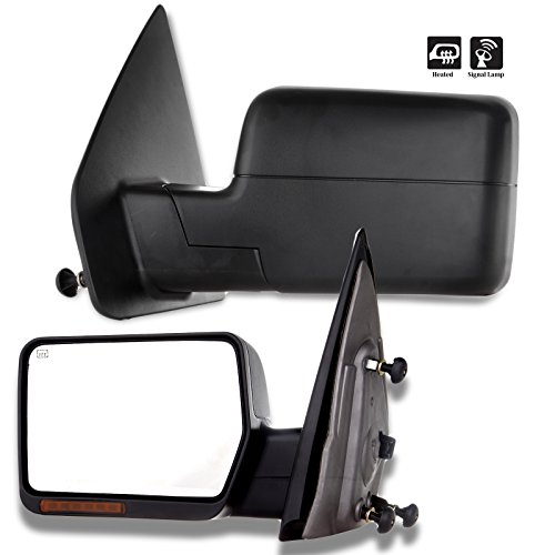 (ECCPP Towing Power Heated Turn Signal Mirrors Replacement fit for 2004-2006 Ford F150 Pickup Pair Side Left Right)