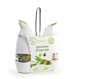 Prepara Gourmet Cruet Set with Holder