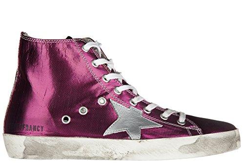 Golden Goose scarpe sneakers alte donna nuove originale francy fucsia