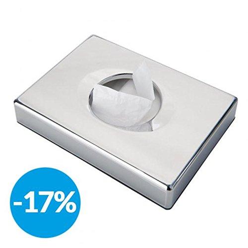 Garcia de Pou Dispenser Sanitary Bags, Acrylonitrile butadiene styrene, Silver, 13.5 x 10 x 2.6 cm by Garcia de Pou