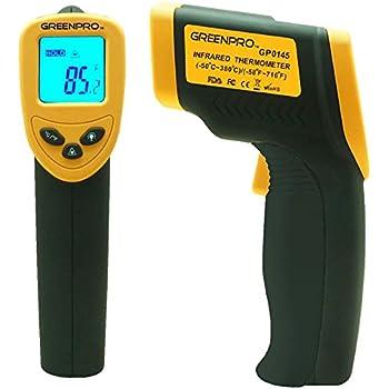 Greenpro Temperature Gun Non-Contact Infrared Thermometer (Black/Yellow)