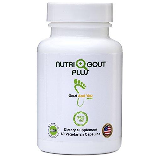 Nutrigout Plus - Uric Acid Support Premium Formula by GoutandYou - 750 mg per Capsule - 60 Vegetarian Capsules - 10 Natural Ingredients