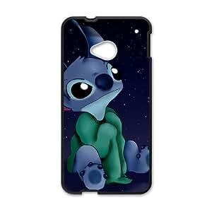 HTC One M7 Cell Phone Case Black Lilo and Stitch Stich Has a Glitch2 VIU901395
