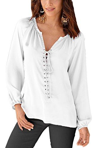 La Mujer Es Elegante Con Cuello En V Profundo Venda Acanalada Verano T Shirt Blusas Tops White