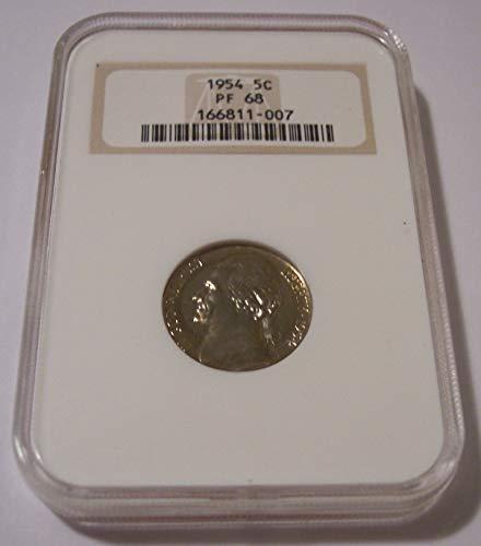 - 1954 Jefferson Proof Nickel PF68 NGC