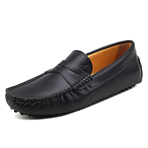 D7152 comode Liscia Scarpe Casual Shenduo Pelle Loafers Mocassini Uomo Nero Scarpe Uomo di TPqw0SYq