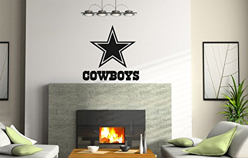 NCAA TX Dallas Cowboys logo Wall Decal Vinyl Sticker mural graphics home decor NFL fan room customization ()