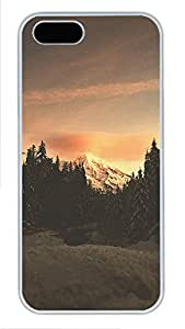 iPhone 5 5S Case landscapes nature snow mountain 35 PC Custom iPhone 5 5S Case Cover White