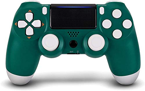 Christmas Alpine Green PS4 Controller - YU33 Wireless PS4 Remote Control for Sony Playstation 4 with Large Capacity 1000 mAh Battery(Green Joystick PS4,2020 New)