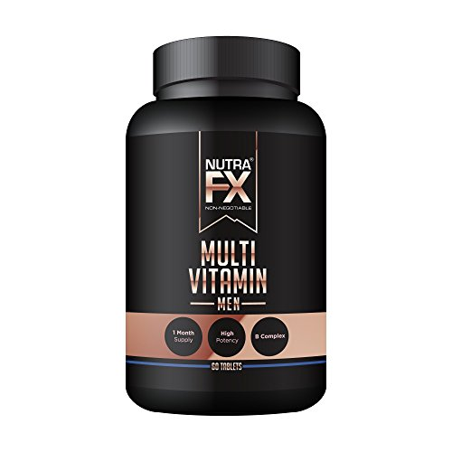 NutraFX Men's Multivitamin 60 Tablets Essential Male Vitamins and Nutrition for Optimal Health and Maximum Performance (Mens Muscle Building Supplements compare prices)