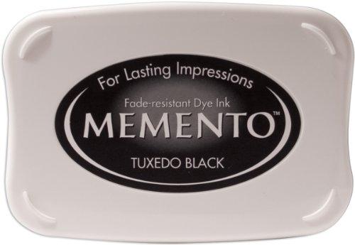 Tsukineko ME000900 Full-Size Memento Fade Resistant Inkpad, Tuxedo - Stazon Solvent Stamp Cleaner Ink