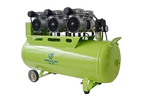 Dental compresor de aire silencioso sin aceite Oilless Motor ga-63 1800 W tanque 90L de: Amazon.es: Deportes y aire libre