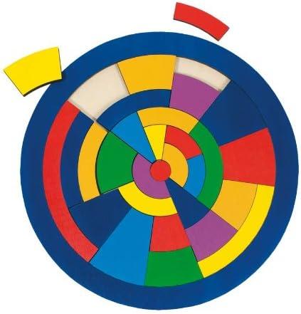 Goki-57849 Puzzles de Madera Encaje Círculo, Multicolor (4013594578493)