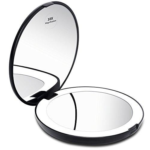 Kedsum Led Lighted Compact Travel Mirror 1x 10x