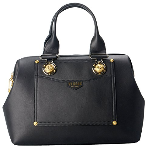 Versace-Versus-100-Leather-Black-Womens-Handbag-Bag