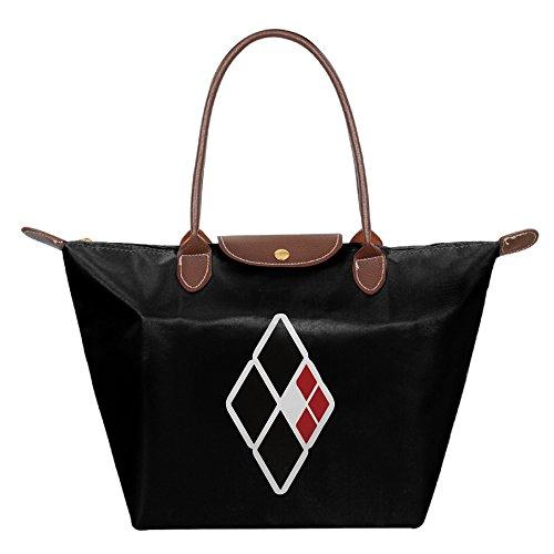 harley-quinn-diamonds-foldable-shopping-bags-large-tote-handbags-black