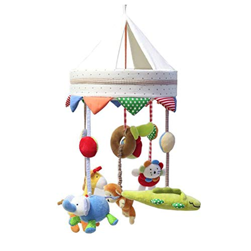 - Excellent Sales Mobile Bed Bell Baby Music Help Improve Your Baby's Hands-On Ability and Thinking Ability Wind-Up Music Box Kids Toy,35Songmusicbox(Battery)