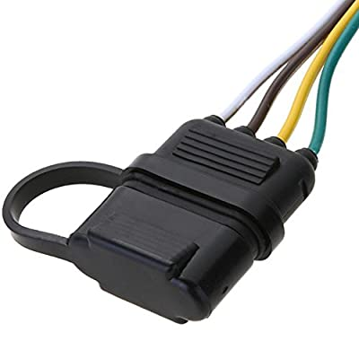 "NEW SUN Trailer Wire Plug 32"" 4 Way Flat 4 Pin Universal Wiring Connector: Automotive"